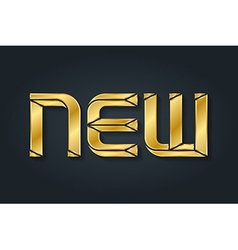 New - inscription luxury gold letters vector