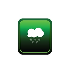 Button of cloud with snowflake weather vector