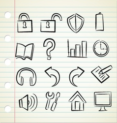 Sketchy icons vector