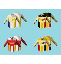 Hockey sportswear uniform vector