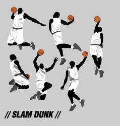 Slam dunk pose collection vector