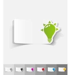 Realistic design element light bulb vector