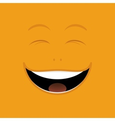 Laughing cartoon face vector