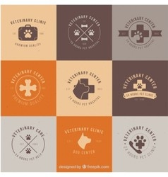 Dog and cats clinic logos vector
