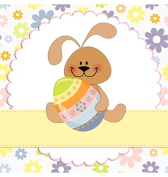 Cute template for Easter greetings card vector image