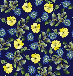 Summer fashion background floral seamless pattern vector
