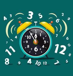 alarm clock ringing time symbol vector image vector image