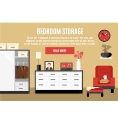 Bedroom storage vector