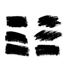 black paint ink brush stroke brush line or vector image vector image