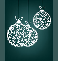 christmas balls white color vector image
