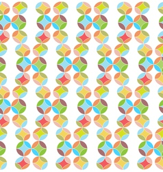 Circles Abstract Seamless Pattern Background vector image vector image