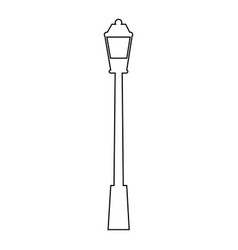 City lamp icon vector