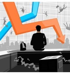 Financial Crisis vector image vector image