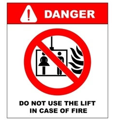 Fire emergency icons do not use the lift vector