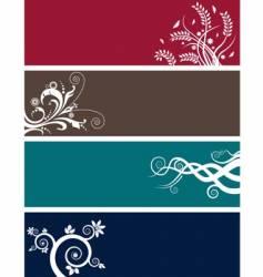 floral web headers vector image