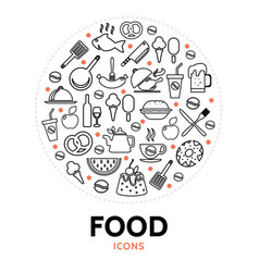 food and cooking round concept vector image vector image