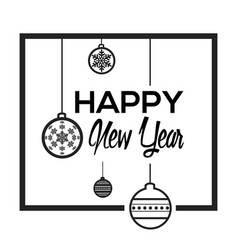 Happy new year poster vector