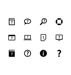 Help and FAQ icons on white background vector image vector image