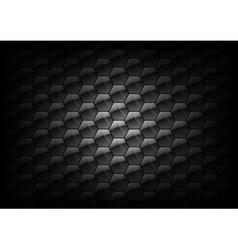 hexagon background grey vector image vector image