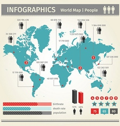 Infographic population of people vector image vector image
