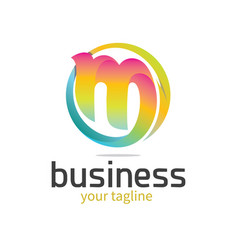 Letter m logo arrow vector