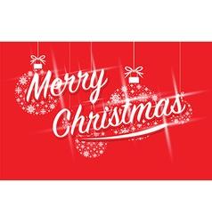 merry christmas ball balls vector image vector image