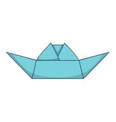 Origami boat icon cartoon style vector