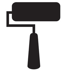 Paint roller icon vector