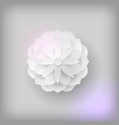 paper volume flower light background vector image