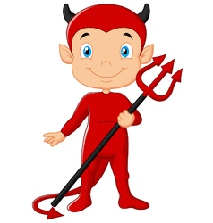 Red devil cartoon vector