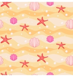 Sandbed cartoon seamless pattern vector image