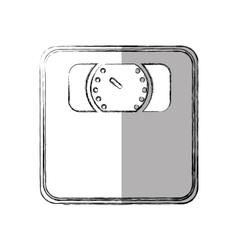scale measure weight isolated icon vector image vector image
