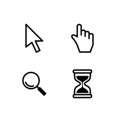 set mouse cursors vector image