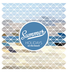 Summer retro poster vector