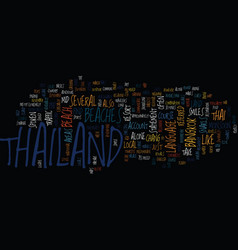 Thailand text background word cloud concept vector