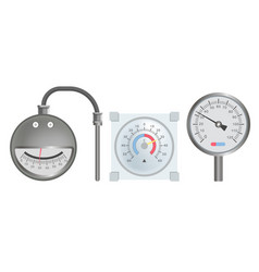 Thermometers with round scale for huge vector