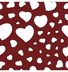 Valentines Day Background Seamless Pattern vector image vector image