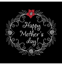 Vintage Mothers Day Label On Chalkboard happy vector image vector image