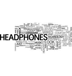 Wireless headphones text word cloud concept vector