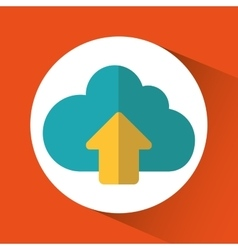 Cloud computing upload design vector