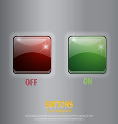 glossy off on buttons vector image
