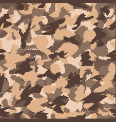 War desert brown safari camouflage seamless vector