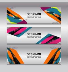 Banner template design vector