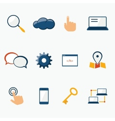 Internet marketing services icons set vector image