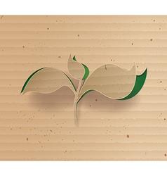 tree cardbroad vector image