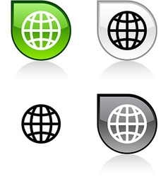 Earth button vector