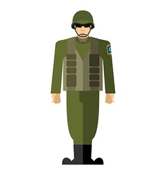 Soldiers of a military man army clothing vector