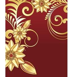 golden floral vector image