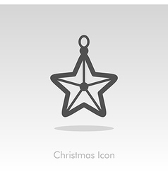 Christmas star icon vector