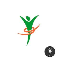 Healthy body logo Human figure slim silhouette vector image